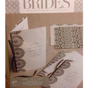 Brides Magazine Damask Invitations
