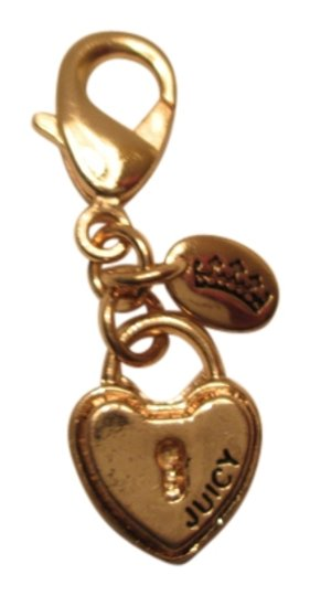 Juicy Couture Juicy Couture heart key locket Charm/free peach pearl drop costume jew