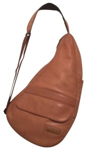 L.L.Bean Leather Cross Body Organizer Weekend/travel Shoulder Bag