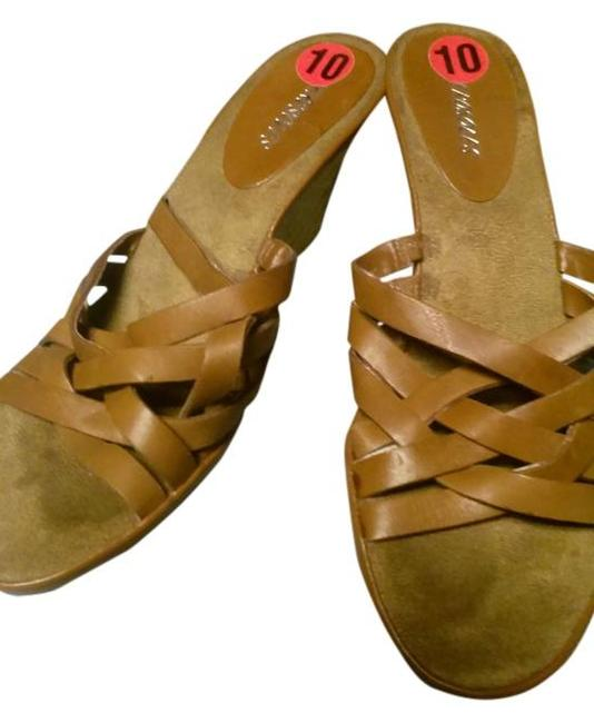 Item - Brown With Woven Heels Wedges Size US 10 Regular (M, B)