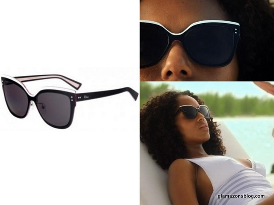 faebaf3325d Dior NEW  725 Dior Exquise Black White Cat Eye Colorblock Sunglasses Limited  Edition Image 6. 1234567