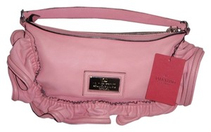 Valentino Ruffle Lamskin Shoulder Bag