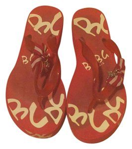 BCBG Paris Red Sandals