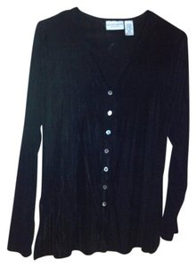 Jaclyn Smith Button Down Shirt black
