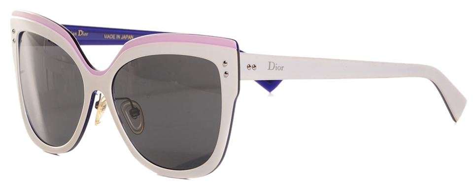 bc456a9bc03ff Dior Dior Exquise White Pink Colorblock Cat Eye Sunglasses Limited Edition   725 NEW Image 0 ...