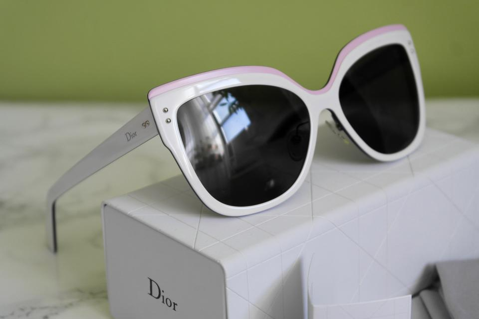 bc2daef6f2eba Dior Dior Exquise White Pink Colorblock Cat Eye Sunglasses Limited Edition   725 NEW Image 10. 1234567891011