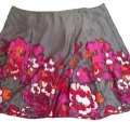 Lane Bryant Floral Print Polyester Plus Size Pleated Skirt Multi