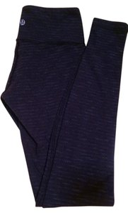 Lululemon Super Soft Comfortable Dark Grey with Stripes Leggings