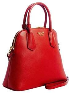 Prada Leather Luxury Tote in Red