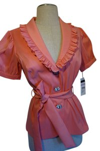 Cachet Elegant And Sexy Peach Pink Pink Peach Sexy Button Down Shirt Peach Pink