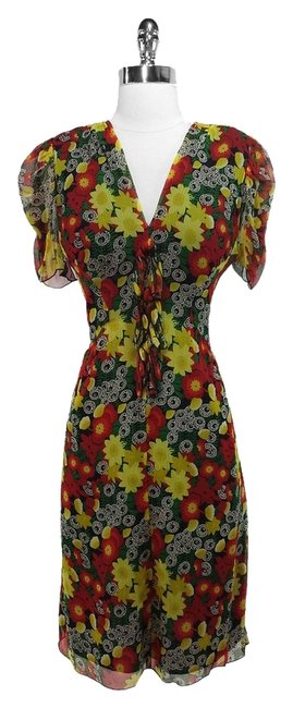 Anna Sui short dress Multicolor Silk on Tradesy