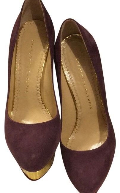 Item - Purple Classic High Heels Platforms Size US 7.5 Regular (M, B)