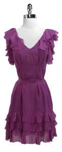 Rebecca Taylor short dress Magenta Chiffon Silk on Tradesy