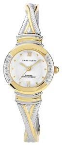 Anne Klein Beautiful Anne Klein Two Tone Bangle Watch Gold Diamonds (Model#780778)