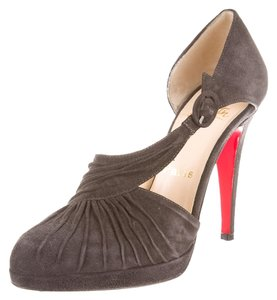 Christian Louboutin Suede Pump Charcoal Pumps
