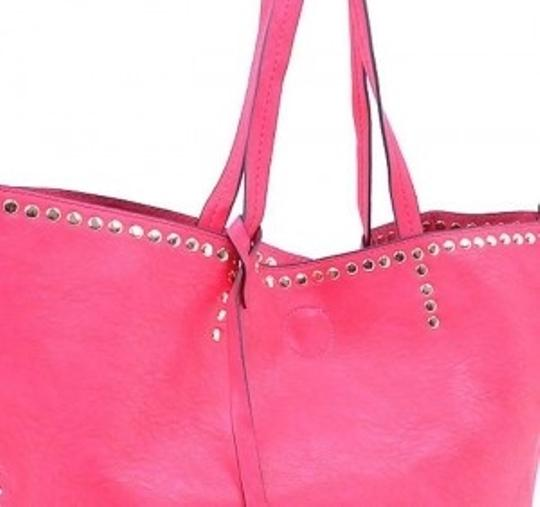 Other Studded Bright Large Tote in Pink