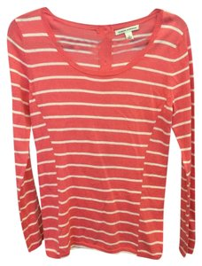 Banana Republic Striped Top Salmon