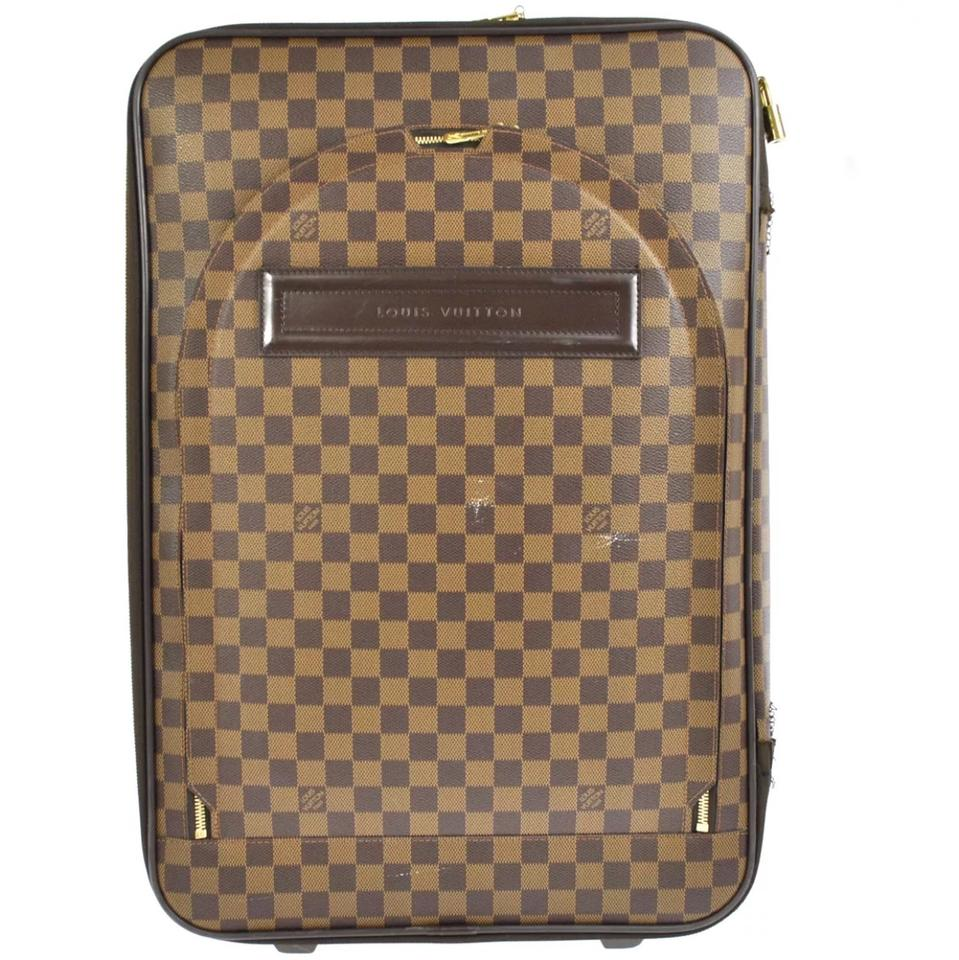 Louis Vuitton Garment Cover Cabin Size Carry On Rolling Luggage Suitcase On  Wheels with + Lv Lock Key Damier Ebene Pegase Leather and Canvas Weekend  Travel ... 016031342c95d