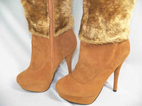 Other Fur Faux Fur Buckle Strap camel Boots