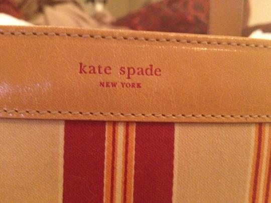 Kate Spade Tote in Tan with Red