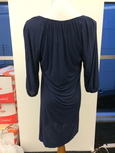 T-Bags Los Angeles short dress Blue Rayon Longsleeve Soft Soft on Tradesy