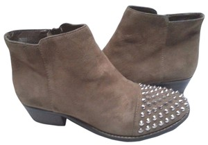 Steve Madden Suede Spike Toe Spiketoe Taupe Boots