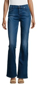 7 For All Mankind 93%cotton 5%polyester Boot Cut Jeans-Medium Wash