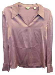 Greta Garbo Silk Top Lilac