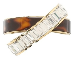 Michael Kors Tortoise Baguette Criss-Cross Band Ring