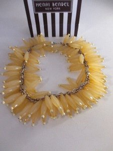 Gerard Yosca Gerard Yosca Leaf Honeycomb Cluster Bead Necklace 240 Yellow