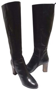 Attilio Giusti Leombruni Tall Riding Leather Black Boots