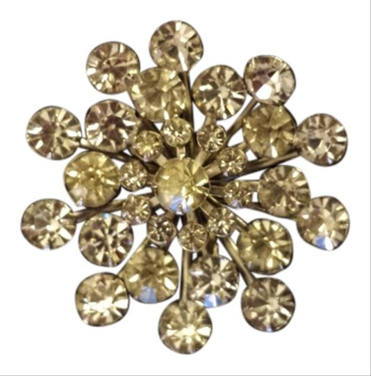 Other Snowflake shaped brooch, very sparkly, Vintage, from 1960's.