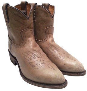 Frye Ankle Vintage Leather Tan Boots