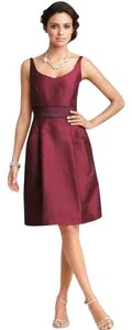 Ann Taylor Silk V-neck Sleeveless Belted Dress