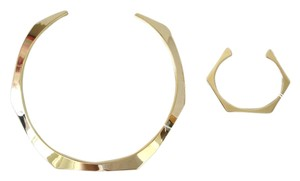 J.Crew sculpted necklace and cuff set