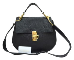 Chlo Chloe Large Drew Shoulder Satchel in black