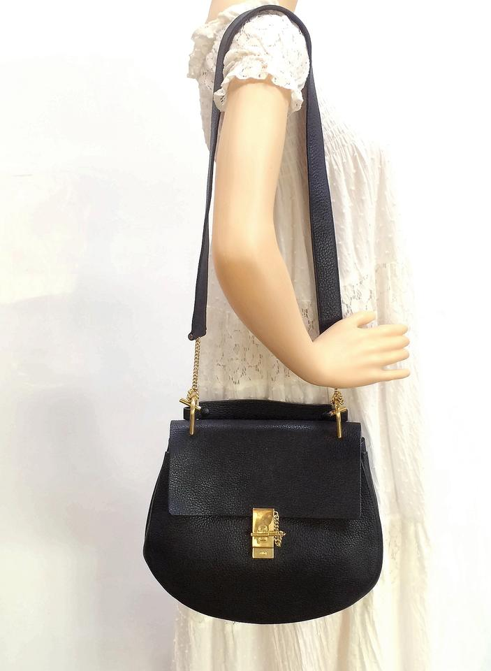 9e4e633b7e Chloé Drew Large Black Leather Satchel - Tradesy