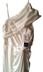 Adrianna Papell Satin Grecian One Slit To Mid-thigh New With Tags Dress