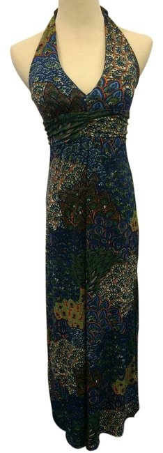 Item - Patterned Long Casual Maxi Dress Size 4 (S)