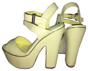 Topshop Yellow Platforms