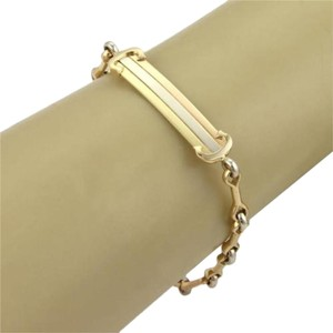 Cartier Cartier Trinity 18k Tri-color Gold Id Bar Fancy Chain Link Bracelet