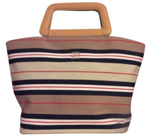 DKNY Style Adorable Tote in Tan Striped