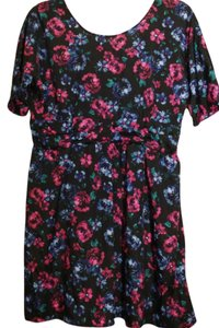 Xhilaration short dress Navy Blue Floral Plus Size on Tradesy