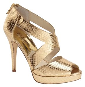 MICHAEL Michael Kors Gold Platforms