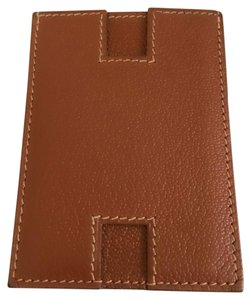 Hermès Authentic Hermes Leather H Motif Card Holder