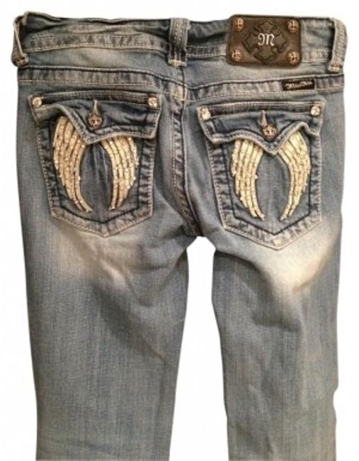 Item - Light Distressed Wash Boot Cut Jeans Size 28 (4, S)
