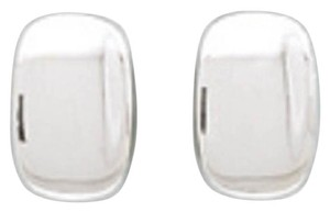 .925 Rectangular Concave Clip-On Earrings
