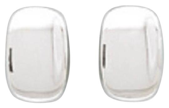 Other .925 Rectangular Concave Clip-On Earrings