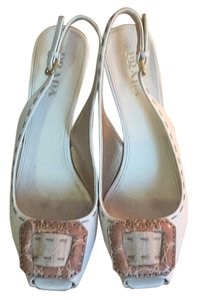 Prada Eggshell, brown and beige Pumps