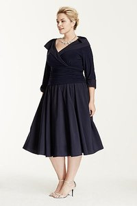 David's Bridal Navy Blue Navy Blue Mother Of The Bride Dress